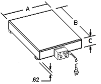 Industrial Electric Hot Plate Dimensions